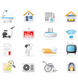 amenities icons vector image