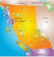british columbia province map vector image