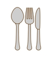 color cutlery icon image design vector image