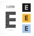 Creative E - letter icon abstract logo design vector image