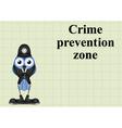 Crime prevention zone UK vector image