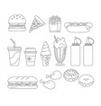 fast food graphics outline vector image