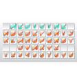 medical pills font set vector image