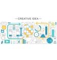 modern line flat creative idea sales vector image