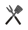 Roasting utensil cutlery icon vector image