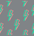 Seamless texture with lightning linear vector image