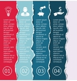 torn pages for infographic vector image