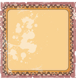 ornamental decorative frame vector image vector image