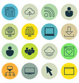 set of 16 internet icons includes followed vector image