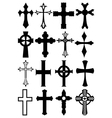 Cross silhouettes vector image