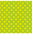 Tile pattern with yellow dots on green background vector image