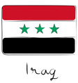 Iraq flag doodle vector image vector image