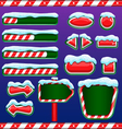 Christmas user interface for mobile or computer vector image