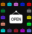 open icon sign Lots of colorful symbols for your vector image