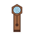 antique clock icon image vector image