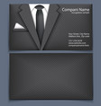 Business card with suit vector image