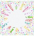 confetti serpentine transparent background vector image