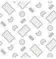 cookie line icon seamless pattern vector image
