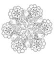 Hand drawn Mendie Mandala vector image