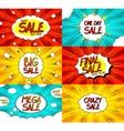Set of Pop art comic sale discount banners vector image