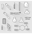 set of scientific icons vector image