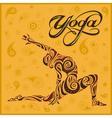 yoga yellow background vector image