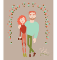 Young stylish couple in love Man and woman fashion vector image