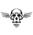 skull logo wings one new vector image
