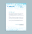 Coporate business letterhead vector image