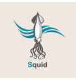 image of squid vector image vector image