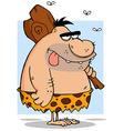 Caveman Cartoon Character vector image vector image