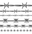 safety steel barbed and razor wire seamless vector image vector image