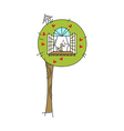 A tree is placed vector image vector image