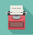 typewriter flat icon vector image