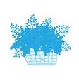 Wicker basket full of flowers daisies vector image
