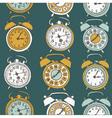 clock drawing seamless vector image vector image