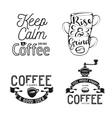 Set of coffee related typography Quotes about