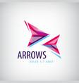 abstract arrows icon logo vector image