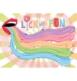 Conceptual funky with many tongues vector image