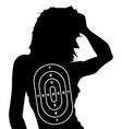 female human shape target vector image