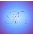Letters R with Polygonal Pattern vector image