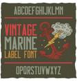 nautical vintage label typeface vector image