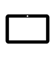 Tablet computer icon vector image