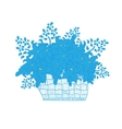 Wicker basket full of flowers daisies vector image