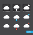 button with cloud icon vector image