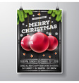 Christmas party with typography vector