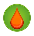medic symbol blood drop red color vector image vector image