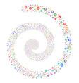 pharmacy fireworks spiral vector image