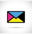 cmyk envelope vector image vector image