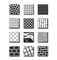 Various external building surfaces vector image